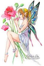 "Original Fantasy Fairy Watercolour Painting - Fairy with Ocarina 6""x9"""