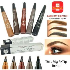 Microblading Tattoo Eyebrow Pen Liquid Ink Waterproof Tint Brow Eye Make Up UK