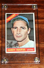 1966 Topps 100 Sandy Koufax collectors card-encased-MINT & Dodgers History Magz
