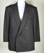 Men's Mani Giorgio Armani Coat Jacket Blazer Double Breast Black Size 44 Vintage