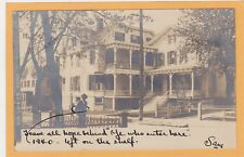 """Real Photo Postcard RPPC - Man in Front of """"Old Ladies' Home"""" Middletown NY"""