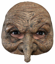 Morris Costumes New Scary Halloween Wizard Motif Latex Half Mask. TB27602