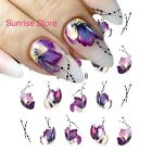 Nail Art Water Transfer Sticker STZ-508 Purple Flower  Petals Decals Manicure