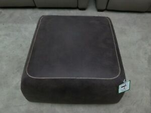 BRAND NEW Brown Leather Square Footstool Contrast Stitching