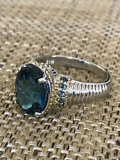 Sterling Silver London Blue Topaz Ring size 9