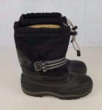 Kamik boys girls youth 5 black waterproof winter snow boots
