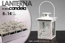 LANTERNA H14*8 METALLO BIANCA Portacandela Portalumini INTERNI ESTERNI 670398