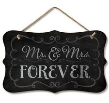 Chalk it Up Fancy Wood Sign--MR. and MRS. Forever---Small Plaque
