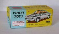 Repro Box Corgi Nr.315 Simca 1000 verchromt