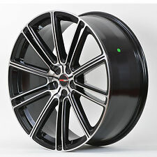 4 GWG Wheels 20 inch Black Machined FLOW Rims fits ET38 5X114.3 TOYOTA CAMRY
