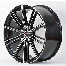 4 GWG Wheels 20 inch Black Machined FLOW Rims fits ET38 5X114.3 NISSAN ALTIMA
