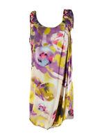 H&M Women's Purple & Yellow Sleeveless Scoop Neck Shift Dress Size 10