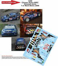 DECALS 1/18 REF 1209 CITROEN XSARA WRC GROSSET JANIN RALLYE MONT BLANC 2006