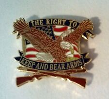 """The Right To Keep and Bear Arms Hat Pin  1 1/8"""""""