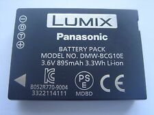 original battery Panasonic DMW-BCG10E 3.6V 895mAh 3.3Wh GENUINE NEW ACCUMULATOR
