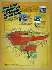 1978 Silverline Silver Line Boats Nantucket 22 VC boat art vintage print Ad