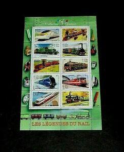TOPICAL, TRAINS, FRANCE, 2001, SHEET/10, MNH, NICE! LQQK
