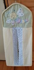 Kids Line Embroidered Snuggle bug Diaper Stacker Clothes Hanging Bag
