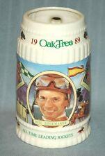 Vintage 80s Santa Anita Racetrack Bill Shoemaker Jockey Mug (Willy Horse Racing)