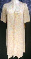 Vintage NEW w/ Tags USA made Vanity Fair Lingerie Nylon Tricot Button Short Gown