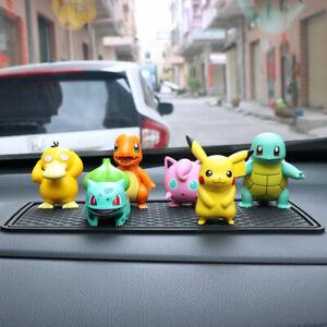 Pokemon Pikachu Squirtle Charmander Psyduck Figure Toy Car Desk Decor Model Gift