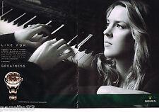 PUBLICITE ADVERTISING 065  2010  ROLEX montre PERPETUAL LADY DATEJUST (2p) D.KRA