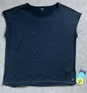 LADIES MARKS AND SPENCER GOOD MOVE BLACK SPORTS/YOGA T-SHIRT -SIZE 14 - NEW