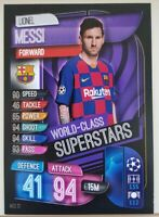 Lionel Messi World Class Superstar Soccer Card 2019/20 Match Attax Barcelona