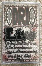 D.R.I. - LIVE - CASSETTE TAPE ORIGINAL STILL SEALED - DIRTY ROTTEN IMBECILES DRI