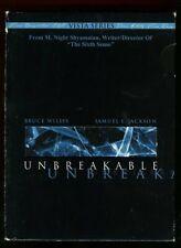 Unbreakable Dvd Stars Bruce Willis Samuel L Jackson