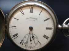 1884 American Watch Co. 3710226 Size 14 7 Jewels Grade Bond Coin Silver Case 90%