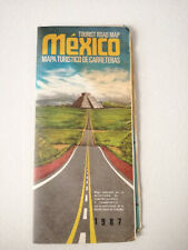 Vintage Mexico Road Map Travel Brochure Guide 1987