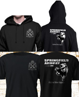 New Firearm SPRINGFIELD ARMORY Gun Riffle Military Army Black T-Shirt S-4XL