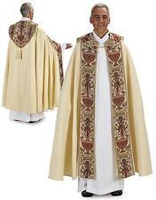 "MRT Coronation Tapestry Cope Catholic Priest Liturgical Vestment Gift 56""L"