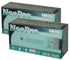 Neopro Large Chloroprene Exam Glove 2 Boxes of 100 Green NPG-888-L Non Latex