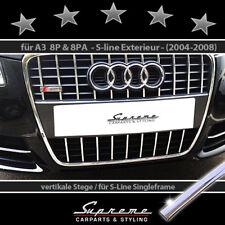 Audi A3 8p e Sportback 8pa 04-08 S-LINE Trim per Griglia Radiatore Cromata 3M