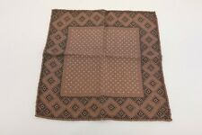 NWT Brunello Cucinelli Men's 100% Wool Dotted Print Pocket Square  A191