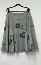 Womens Phase Eight Grey Skirt Size 16 Embellished Skirt Womens Flare Skirt