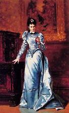 Oil painting ladislaus bakalowicz - 未婚妻的画像 - her fiancee portrait nice lady art