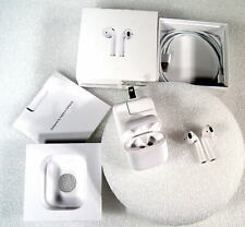 Apple AirPods Wireless Bluetooth Headset Headphones Case White + Power Adapter