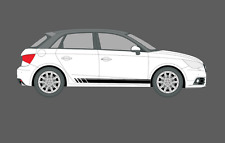 Audi A1 5 door Beats Fade Style Stripes Decal Stickers Graphics Set. Quattro, S1