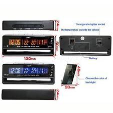 LCD Digital Car Auto Clock Thermometer Temperature Voltage Meter Battery Monito