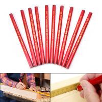 10x175mm Tischler Bleistifte Schwarz Blei Für DIY Builder Tischler HolzbearbPDH