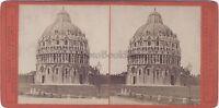 Pisa Italia Stereo Vintage Albumina Ca 1875