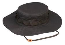 TRU-SPEC 3351 BLACK Camo Waterproof Wide Brim Boonie Hat - One Size Fits Most