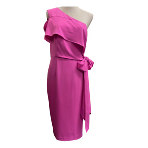 V by Very One Shoulder Structured Bodycon Dress  Pink -  BNWT Size 16