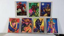 '94 FLAIR MARVEL COMICS MUTANT GENESIS 7 CHASE CARDS-WOLVERINE-CYCLOPS, BISHOP++