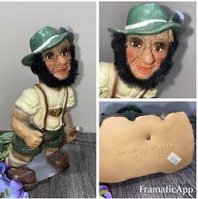 "Vintage HIKER TROLL Nodder Figure LEDERHOSEN West GERMANY HEICO 9"" German Bobble"