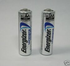 2 Energizer Ultimate Lithium AA L91 Batteries