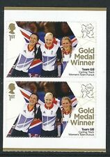 SG 3352 2012-GB los Juegos Olímpicos-Para Mujer Track Pursuit par de sellos
